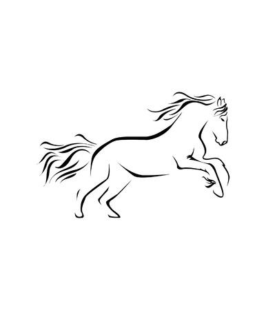 Illustration pour Horse Symbol Vector Illustration - image libre de droit