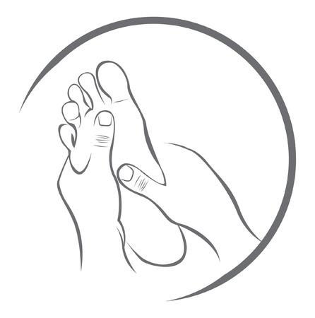 Ilustración de Foot Massage - Imagen libre de derechos