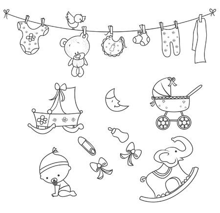 Foto de Baby Doodle Object Hand Drawn Sketch Doodle - Imagen libre de derechos