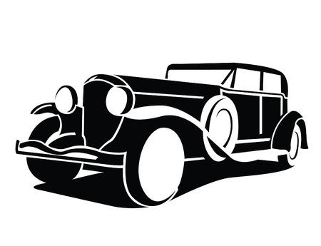 Ilustración de Classic Car Symbol - Imagen libre de derechos