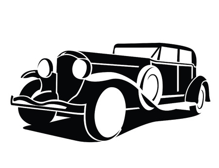 Illustration for Classic Car Symbol - Royalty Free Image
