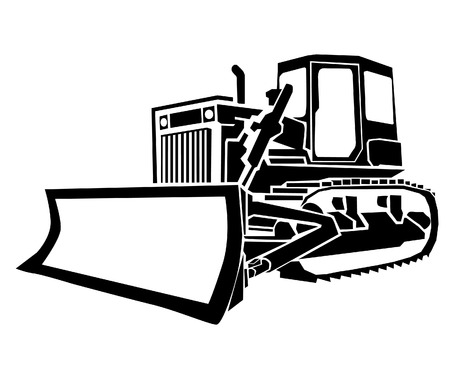Illustration pour Bulldozer - image libre de droit