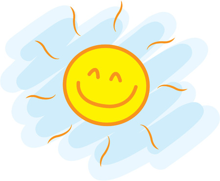 Ilustración de Funny sun - Imagen libre de derechos
