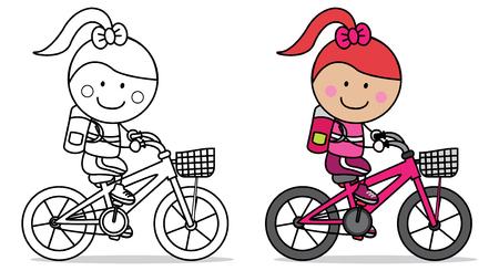 Illustration pour Biker girl - image libre de droit