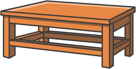 Ilustración de Dinning table vector cartoon illustration - Imagen libre de derechos