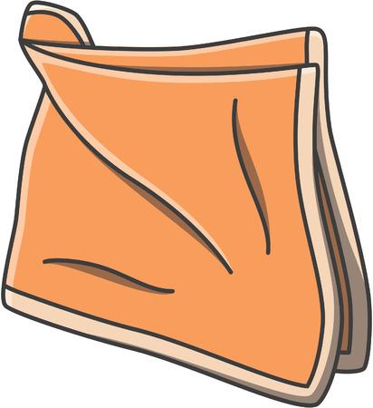 Illustration pour Handkerchief doodle illustration design - image libre de droit