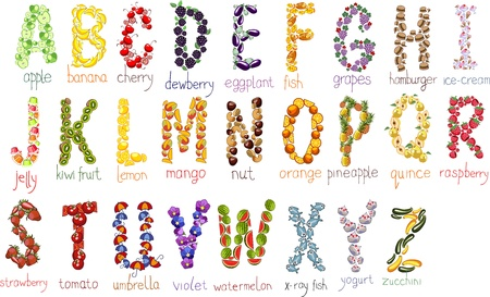 school alphabetical letters with handdrawn doodle font