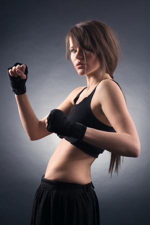 Young woman in sports.