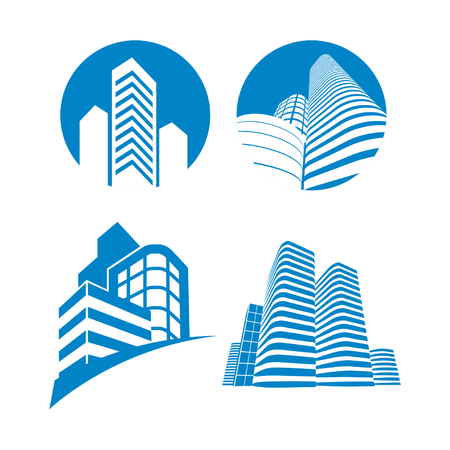 Illustration for skyscrapers sign - Royalty Free Image
