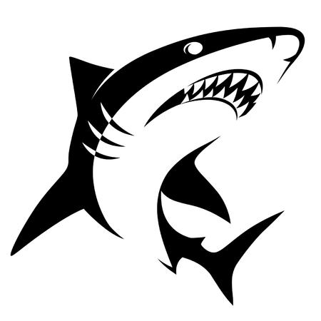 Illustrazione per Shark sign - Immagini Royalty Free