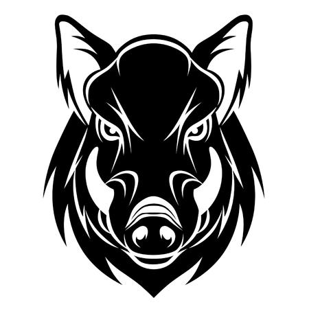 Illustration pour Boar head - image libre de droit