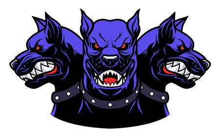 Illustrazione per cerberus heads - Immagini Royalty Free