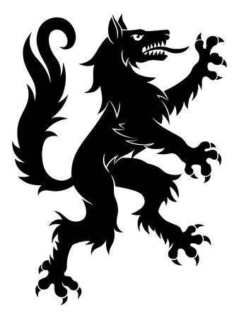 Illustration for Heraldic wolf simple Vector illustration. - Royalty Free Image