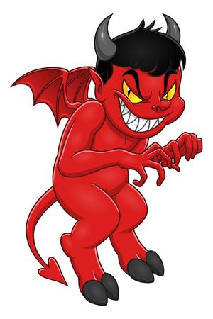 Illustrazione per Cute cartoon demon illustration - Immagini Royalty Free