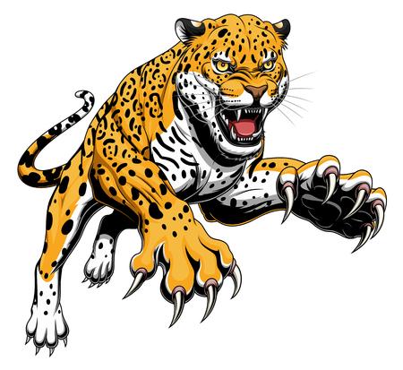 Illustrazione per Leaping jaguar - Immagini Royalty Free