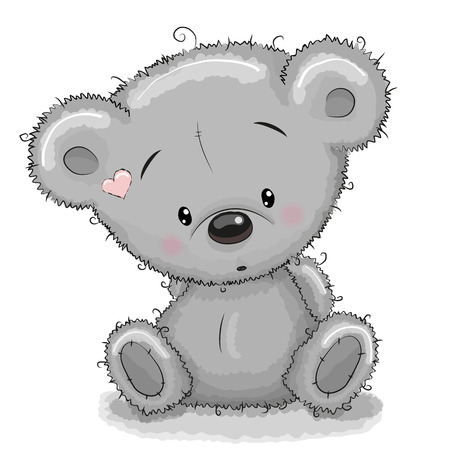 Ilustración de Cute Cartoon Teddy Bear isolated on a white background - Imagen libre de derechos