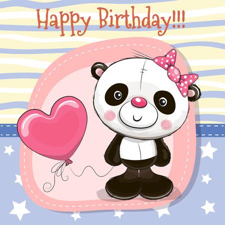 Illustration pour Cute cartoon panda. - image libre de droit