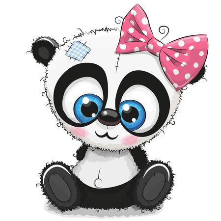 Ilustración de Cute Cartoon Panda girl - Imagen libre de derechos