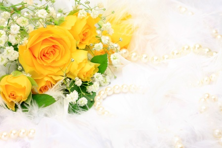 Photo for rose and pearl  - Royalty Free Image