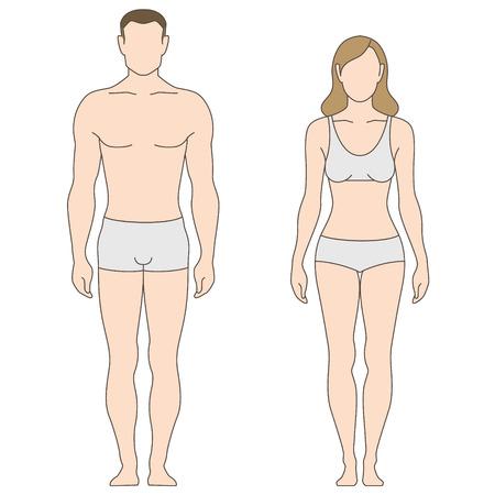 Illustration pour Figures of man and woman. The template for your design - image libre de droit