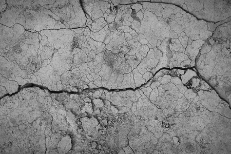 Photo for Gray cracked concrete texture background, close up - Royalty Free Image