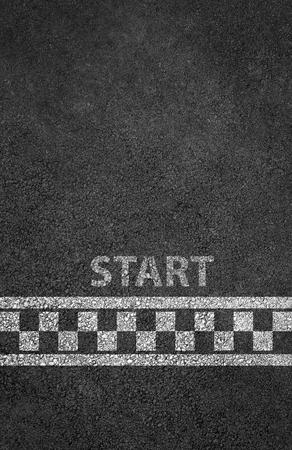 Photo pour Start line racing background - image libre de droit