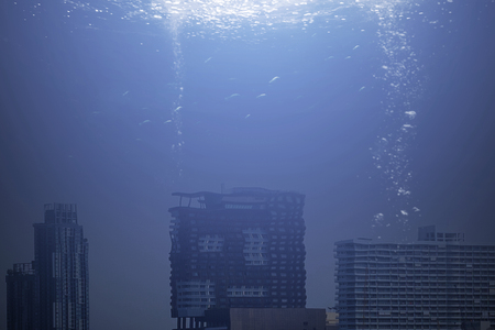 Photo for Modern city under the sea - Royalty Free Image