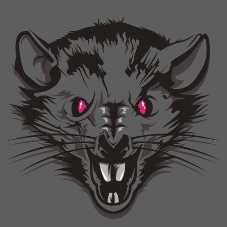 Illustrazione per Angry Rat Head - Immagini Royalty Free