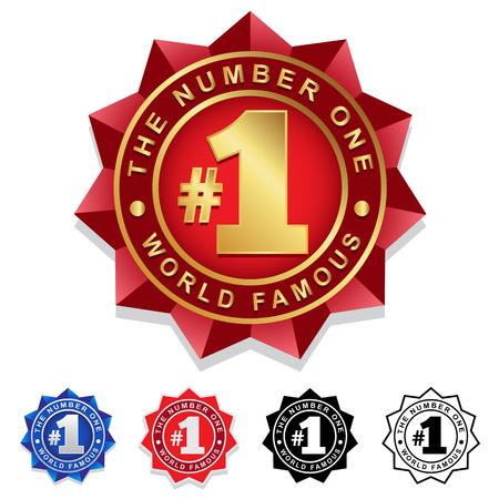 Ilustración de The Number One 1 Seal Badge - Imagen libre de derechos