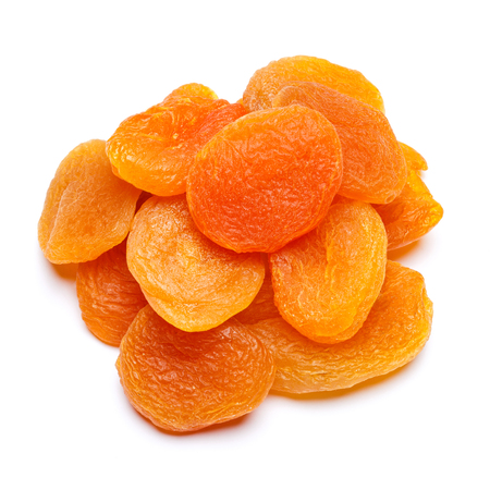 Foto de Dried apricot close-up isolated on a white background - Imagen libre de derechos