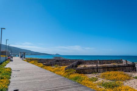 Foto de View of San Pietro a Mare beach in sardinia, near Valledoria and Badesi, in a sunny day - Imagen libre de derechos