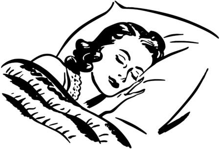 Ilustración de Sleeping Woman - Imagen libre de derechos