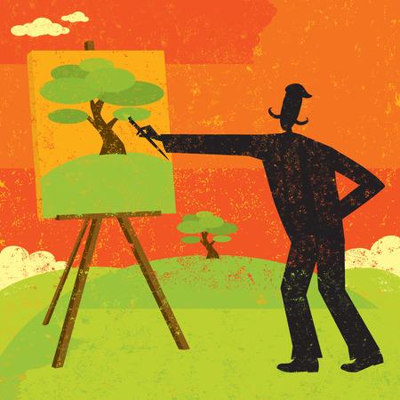 Ilustración de Artist Painting - Imagen libre de derechos