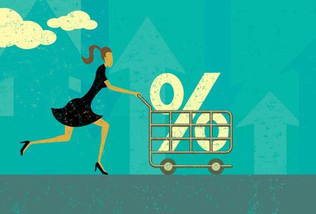 Illustration pour Interest Rate Shopping - image libre de droit