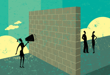 Foto de Shouting at a brick wall - Imagen libre de derechos