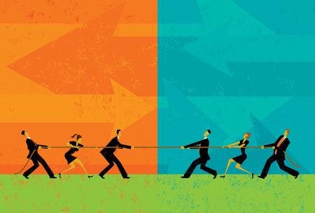 Ilustración de Tug of War - Imagen libre de derechos