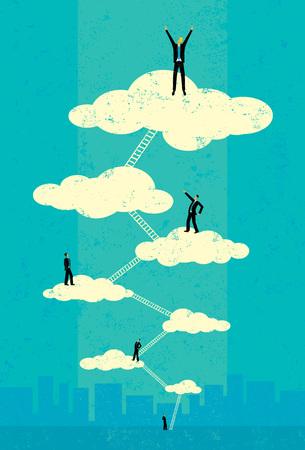 Illustration pour Seventh Heaven - image libre de droit
