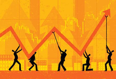 Illustration pour Maintaining Profits - image libre de droit