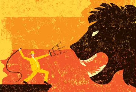 Illustration pour Lion Tamer - image libre de droit