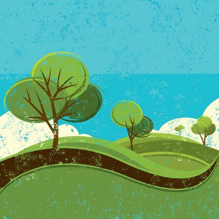 Illustration pour Spring landscape - image libre de droit