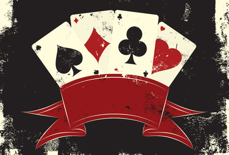 Illustration pour Playing cards insignia - image libre de droit