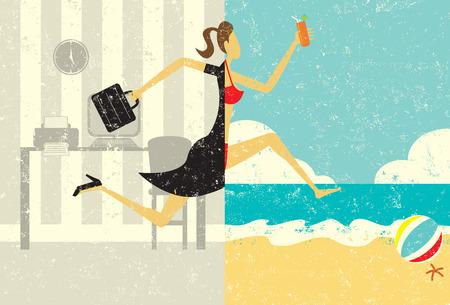 Illustration pour Transition to Vacation - image libre de droit