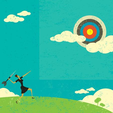 Illustration pour Aiming for a high target - image libre de droit