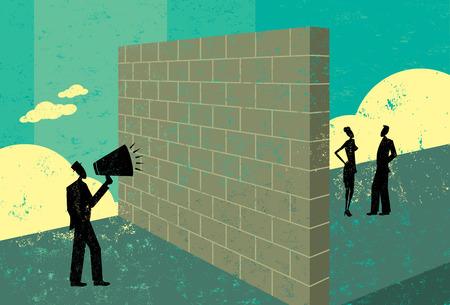 Photo for Shouting at a brick wall - Royalty Free Image
