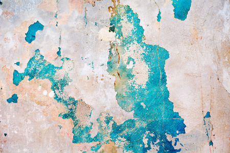 Photo for An old ragged blue plaster wall texture - Royalty Free Image