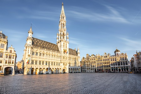 Photo for Central square in Brussels city - Royalty Free Image