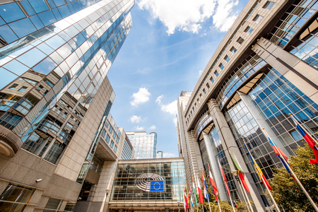 Photo for European parliament building in Brussels - Royalty Free Image