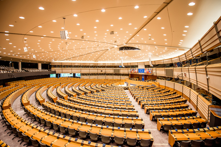 Photo pour European parliament interior - image libre de droit