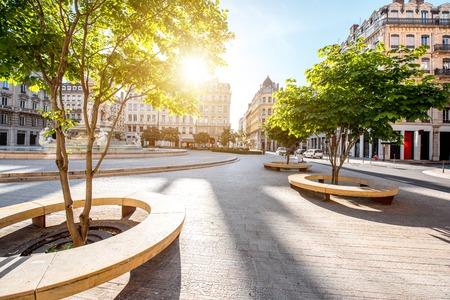 Photo pour Lyon city in France - image libre de droit