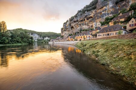Photo pour La Roque Gageac village in France - image libre de droit